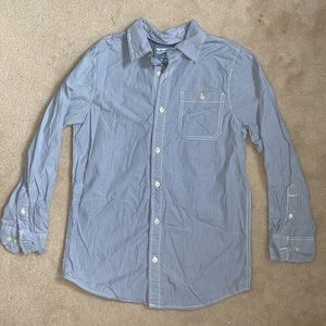 Light blue striped button down